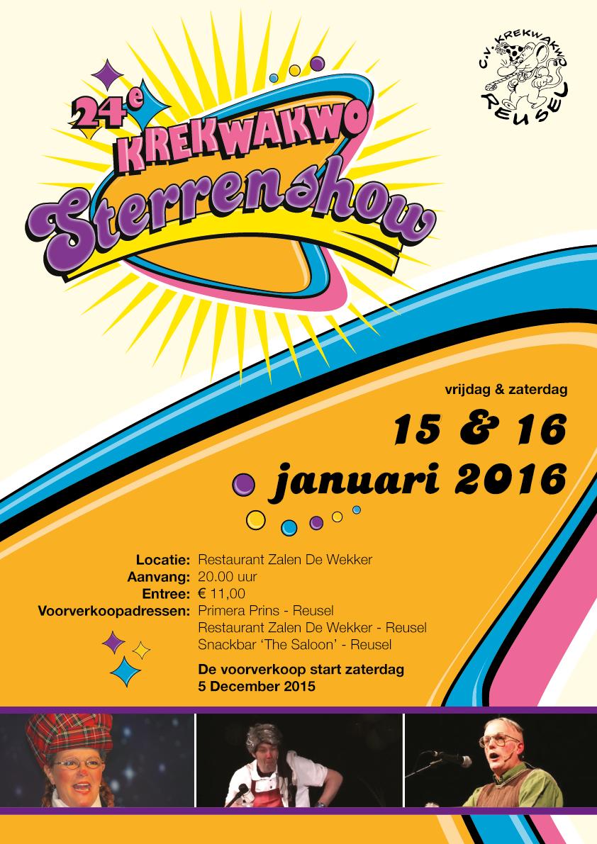 Poster Krekwakwo Sterrenshow 2016